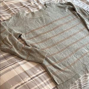 Lane Bryant Rose Gold Striped Sweater size 14/16